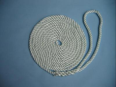 "5/8"" X 35' NYLON 3-STRAND TWIST DOCK LINE - WHITE"
